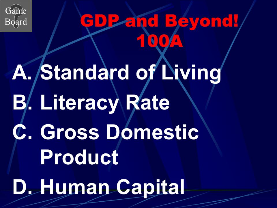 Gross Domestic Product Human Capital