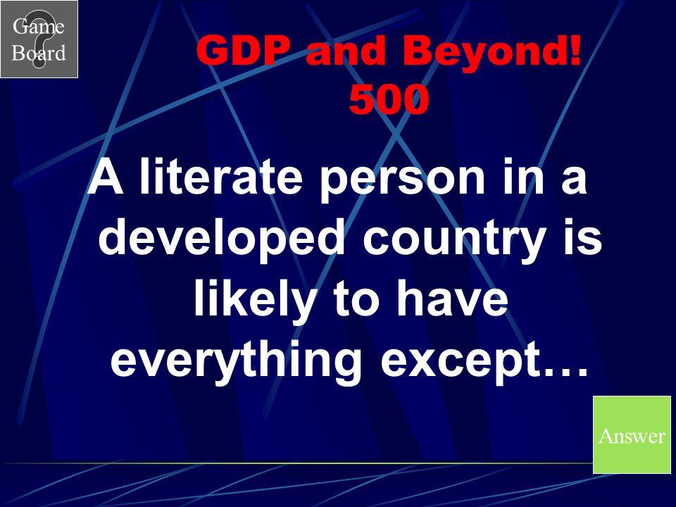 GDP and Beyond.