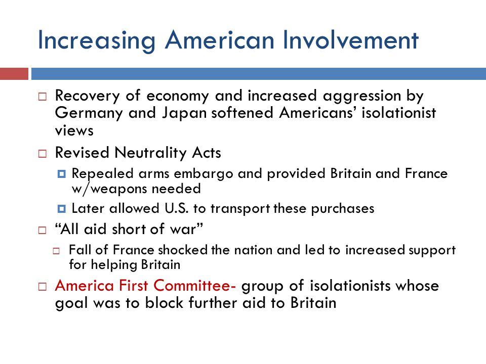 Increasing American Involvement
