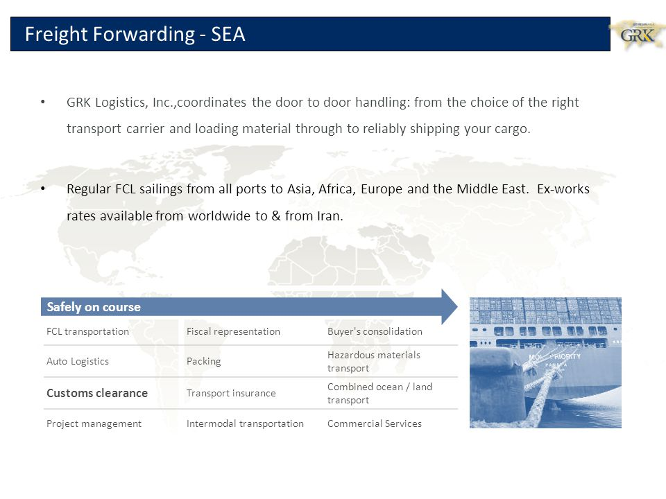 Freight Forwarding - SEA