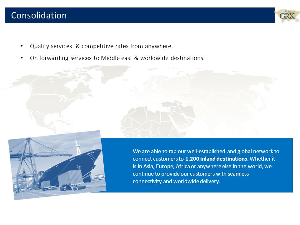 Consolidation Quality services & competitive rates from anywhere.