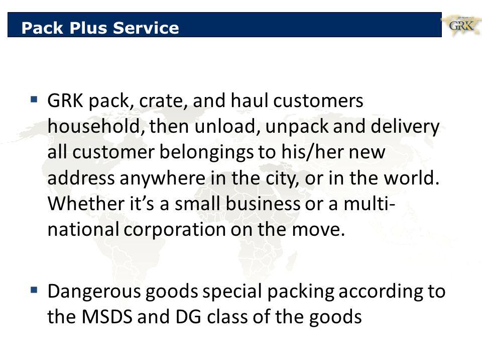 Pack Plus Service