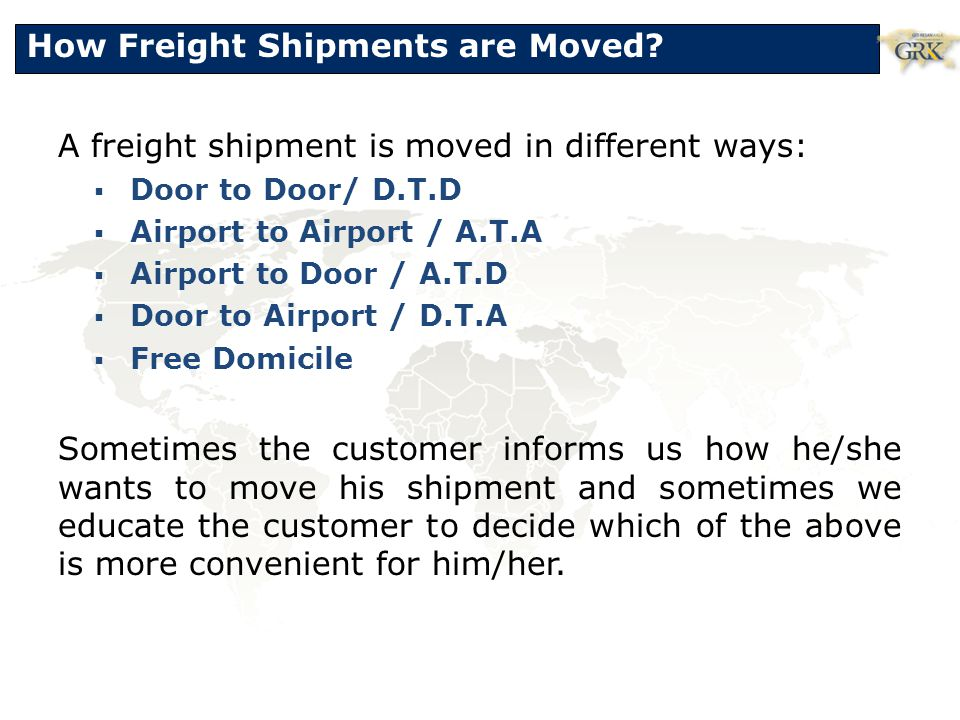 How Freight Shipments are Moved