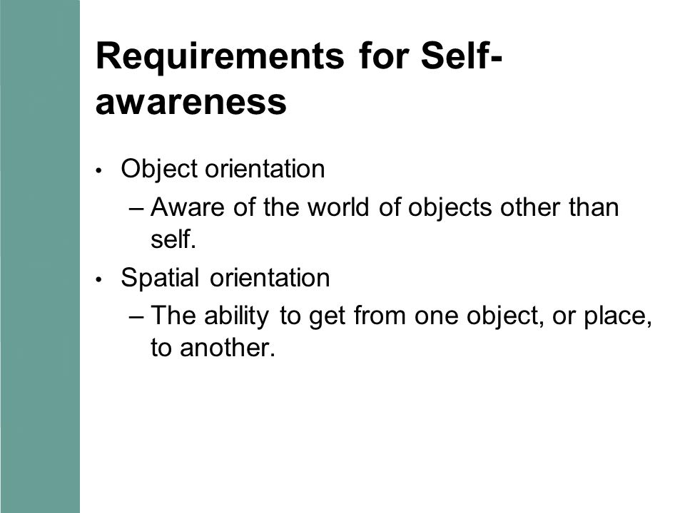 Requirements for Self-awareness