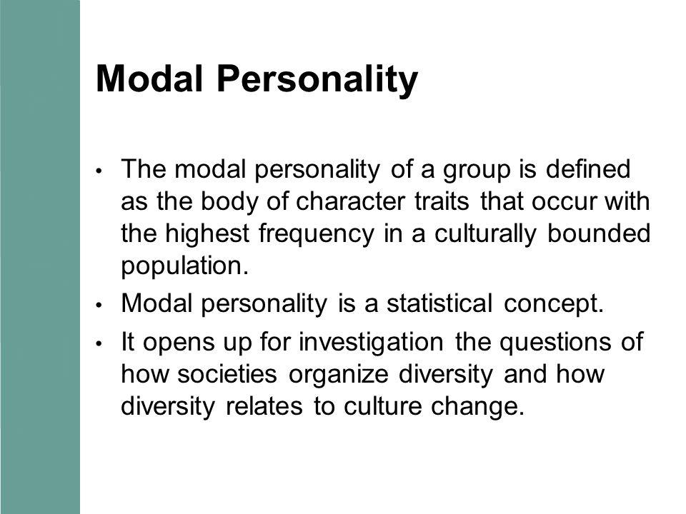 Modal Personality
