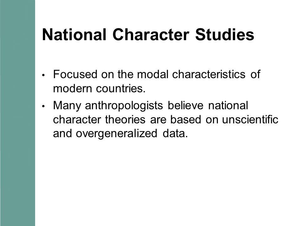 National Character Studies