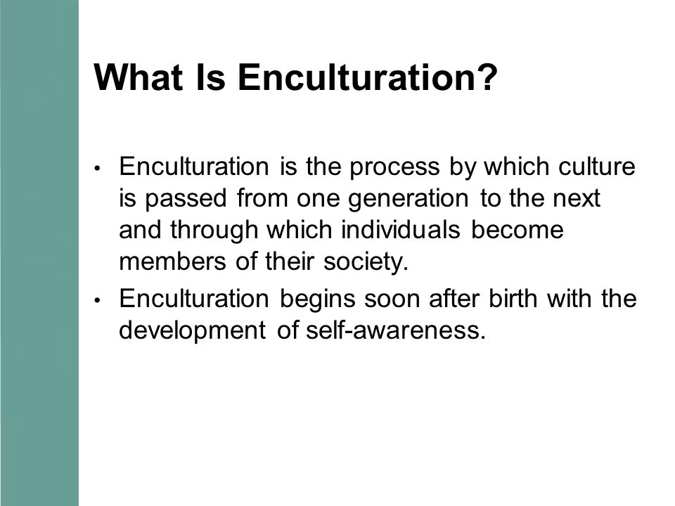 What Is Enculturation