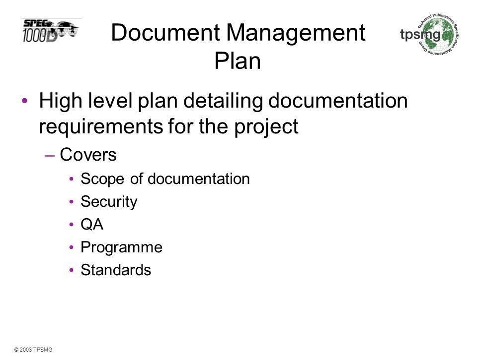 Document Management Plan