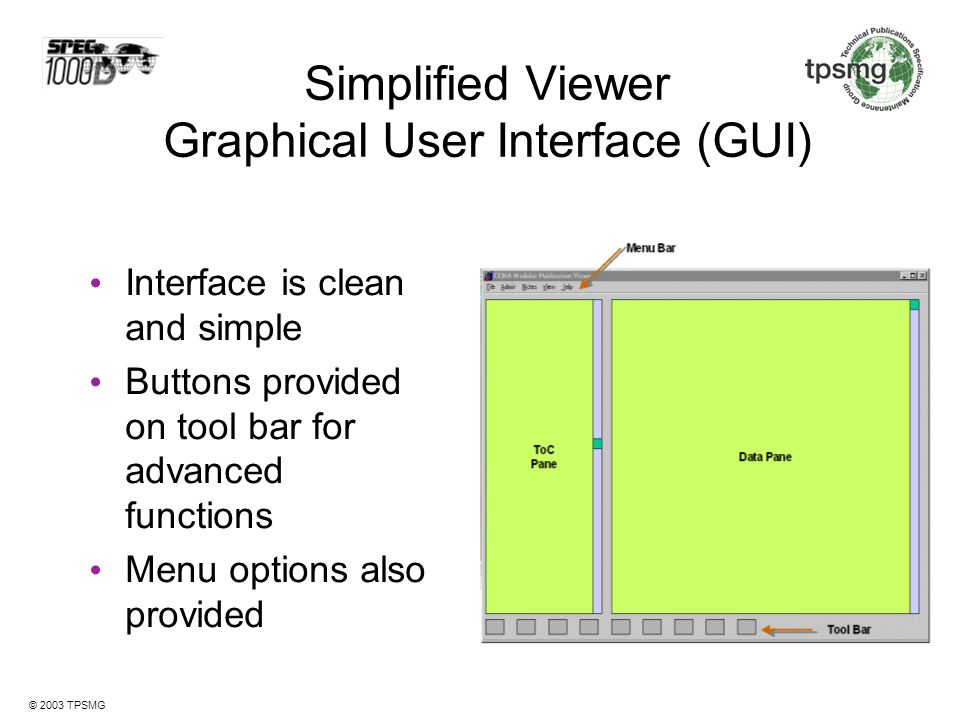 Simplified Viewer Graphical User Interface (GUI)