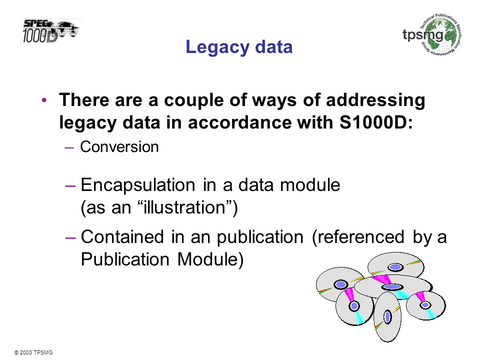 Encapsulation in a data module (as an illustration )