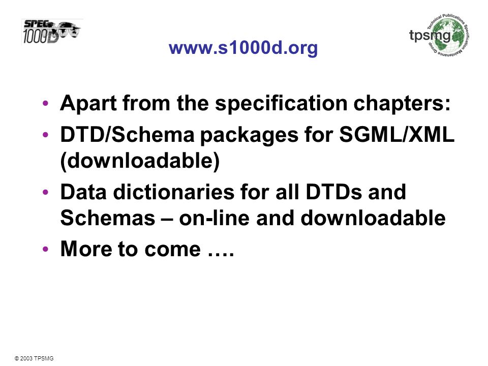 Apart from the specification chapters: