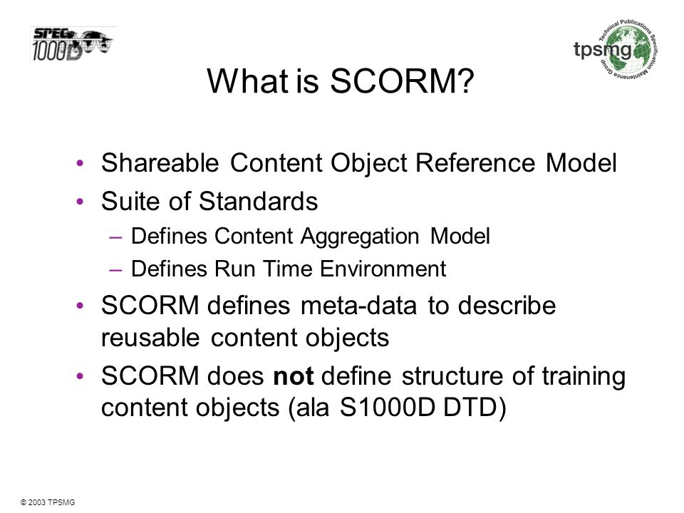 What is SCORM Shareable Content Object Reference Model