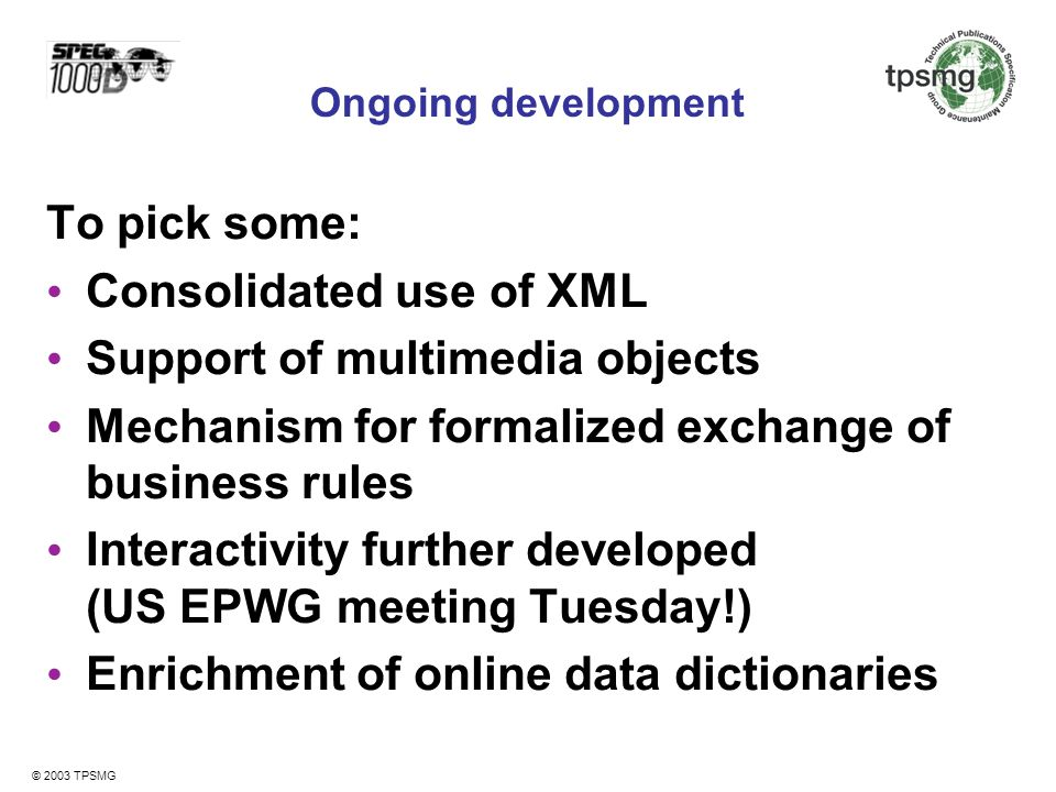 Consolidated use of XML Support of multimedia objects