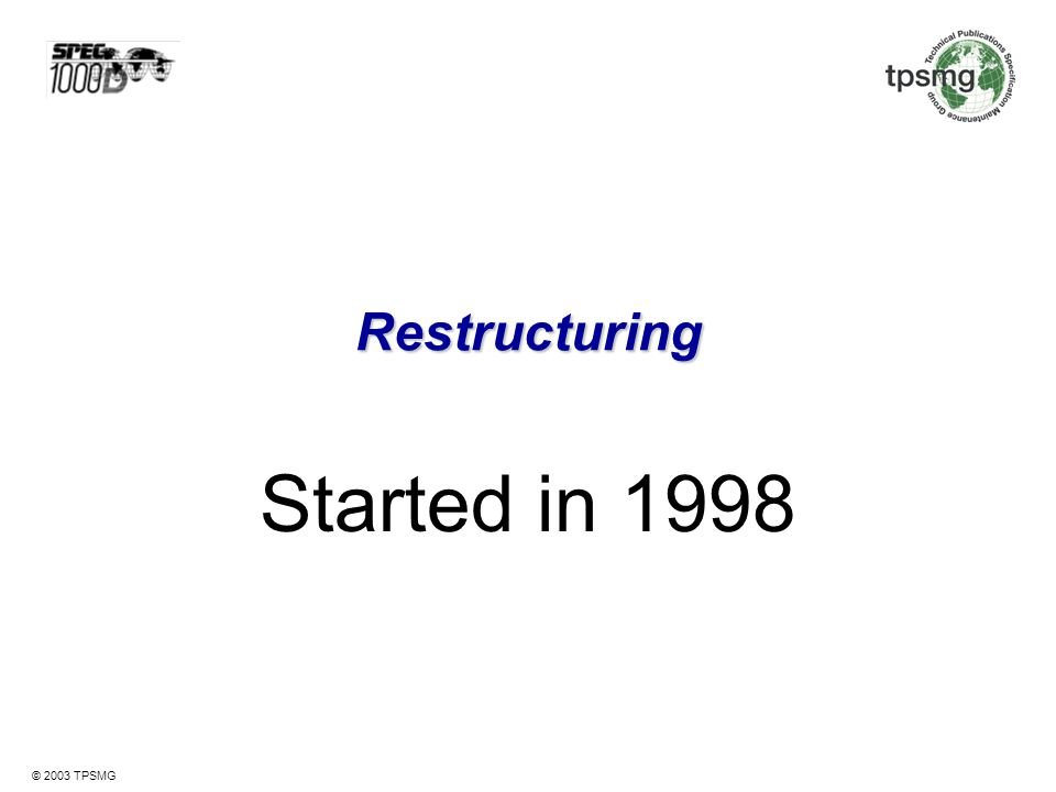 Restructuring Started in 1998