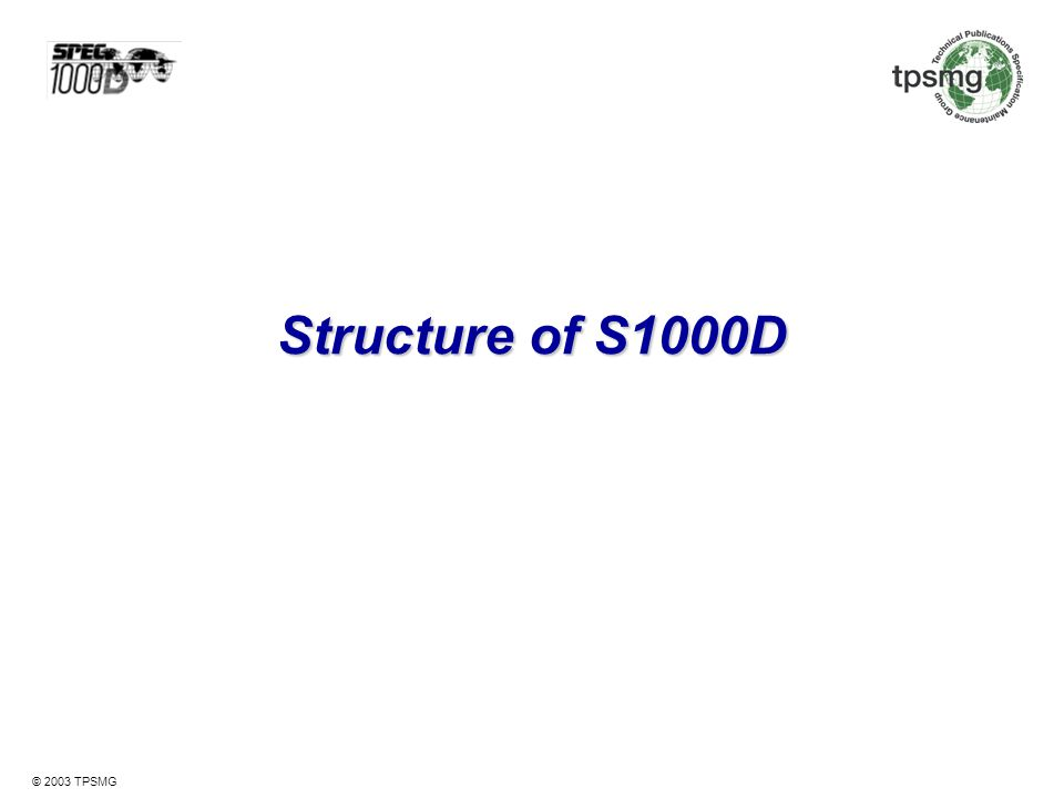 Structure of S1000D