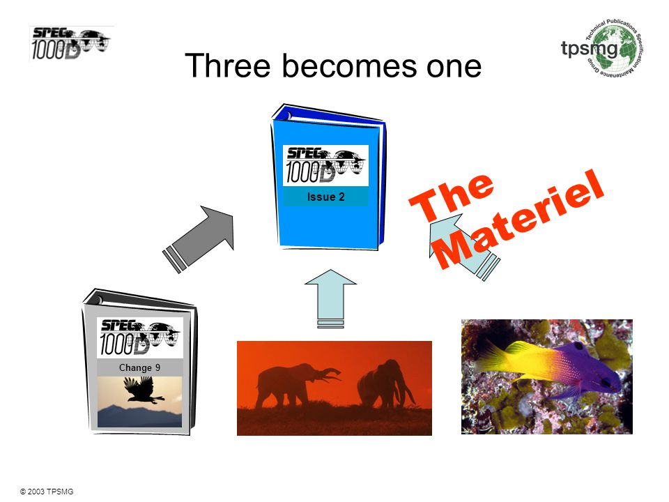Three becomes one Issue 2 The Materiel Change 9