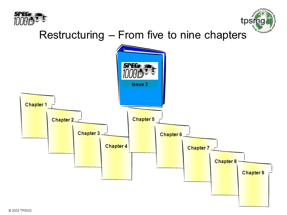 Restructuring – From five to nine chapters