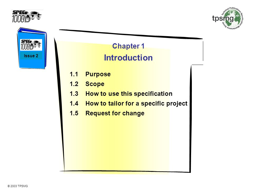 Introduction Chapter 1 1.1 Purpose 1.2 Scope
