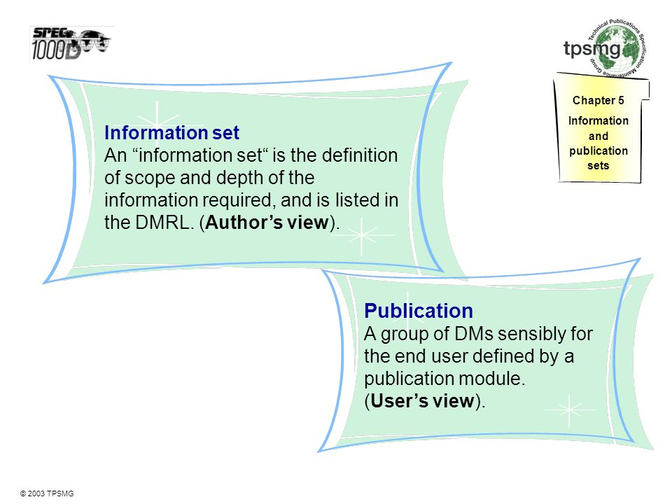 Information and publication sets