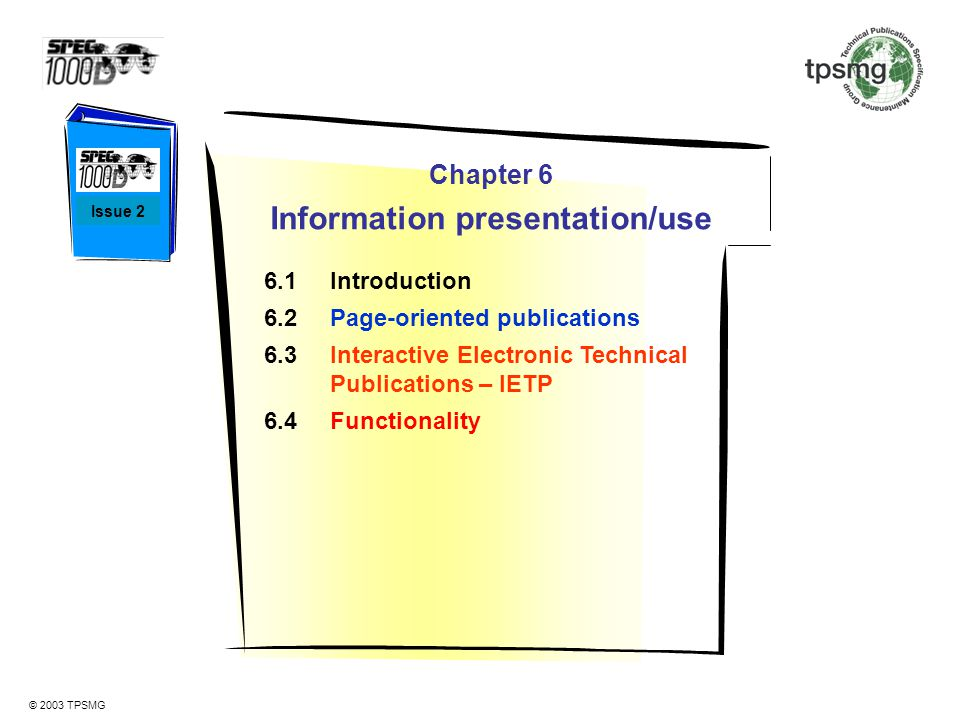 Information presentation/use