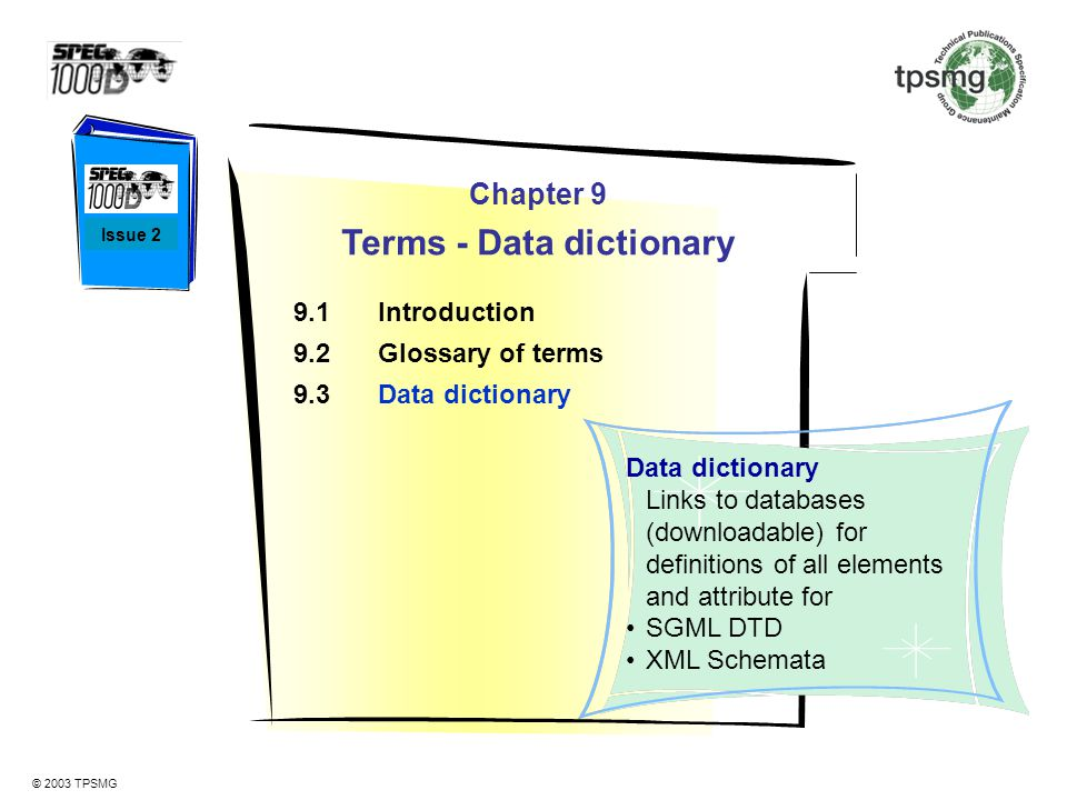Terms - Data dictionary