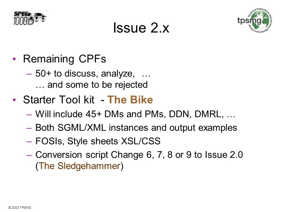 Issue 2.x Remaining CPFs Starter Tool kit - The Bike