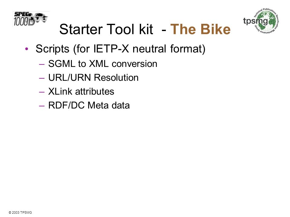 Starter Tool kit - The Bike