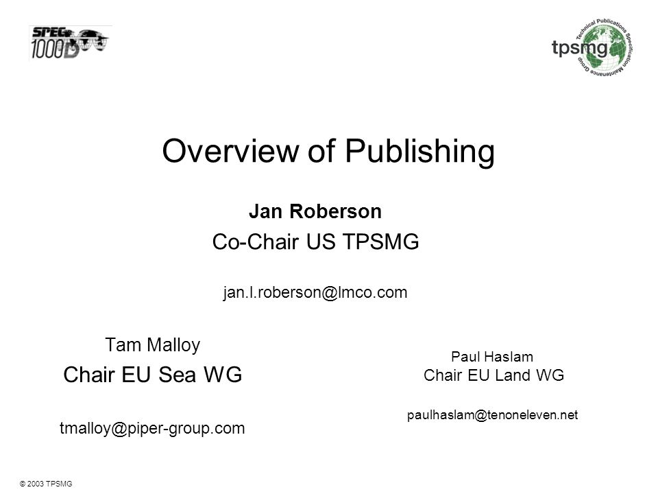 Overview of Publishing