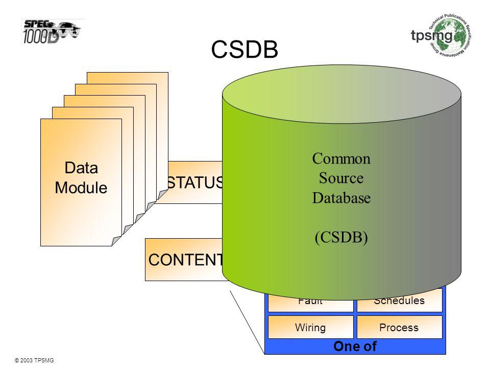 CSDB Data Module Common Source Database Data (CSDB) Module IDSTATUS