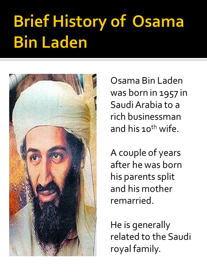 Brief History of Osama Bin Laden