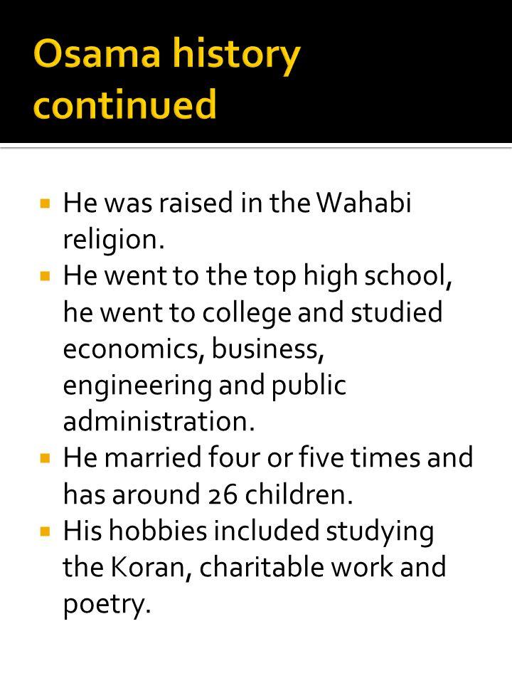 Osama history continued