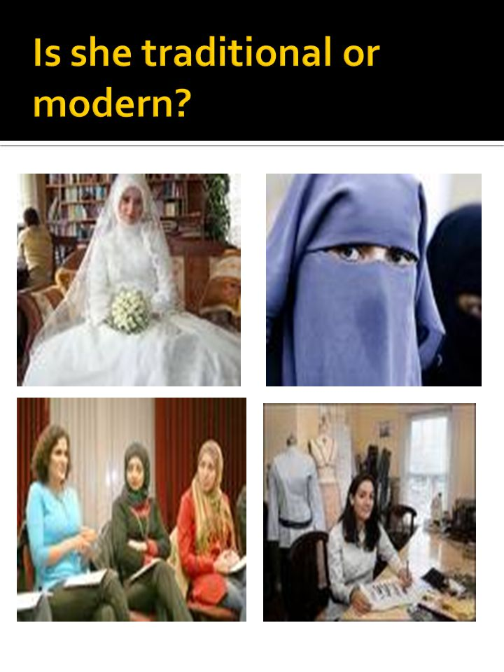 Is she traditional or modern