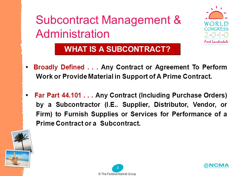 Subcontract Management & Administration