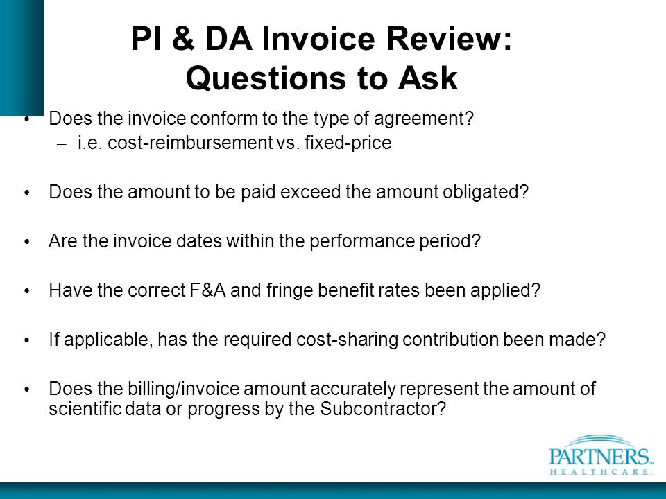 PI & DA Invoice Review: Questions to Ask