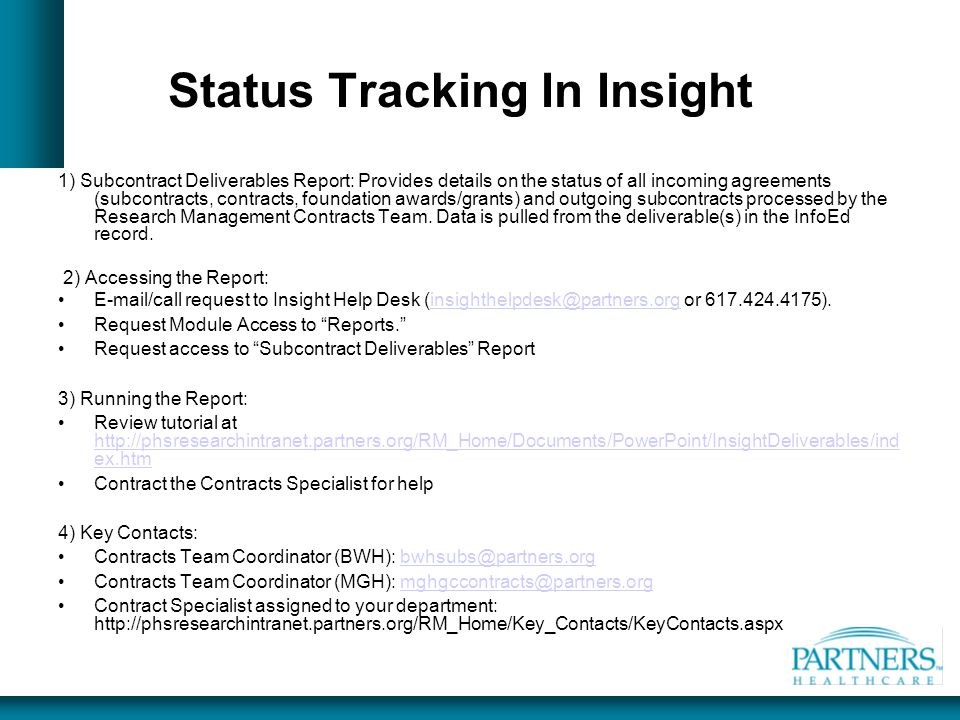 Status Tracking In Insight