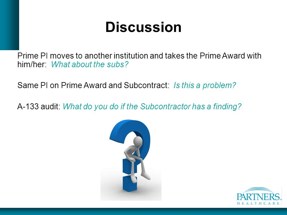 Discussion Prime PI moves to another institution and takes the Prime Award with him/her: What about the subs