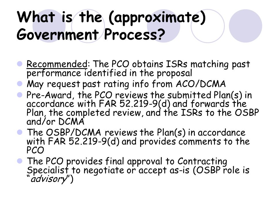 What is the (approximate) Government Process