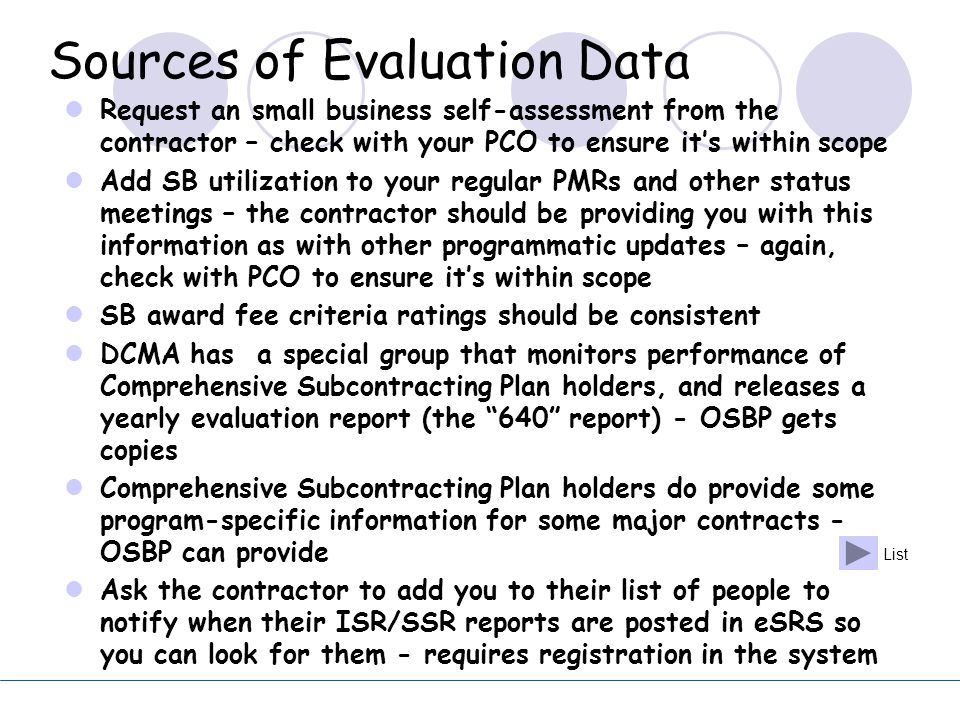 Sources of Evaluation Data