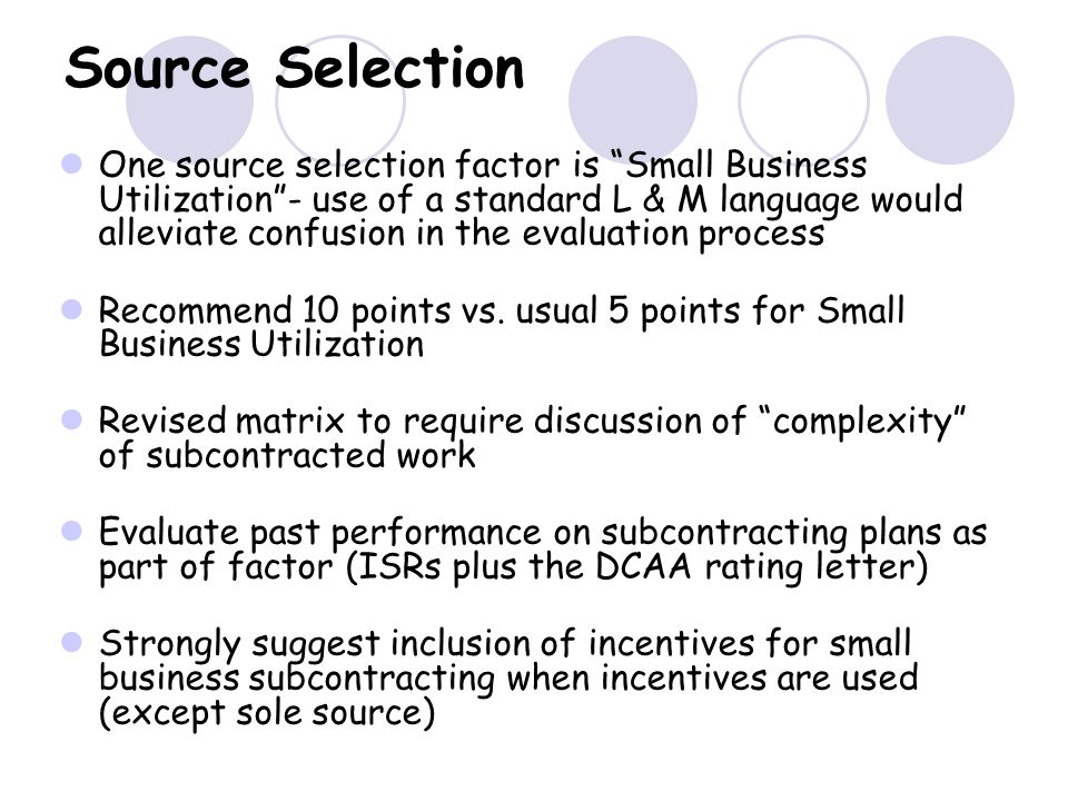 Source Selection