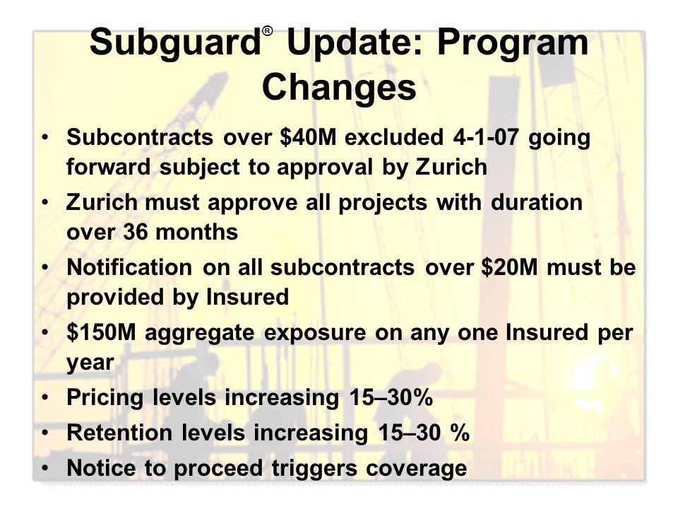 Subguard® Update: Program Changes