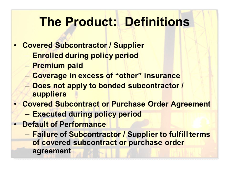 The Product: Definitions