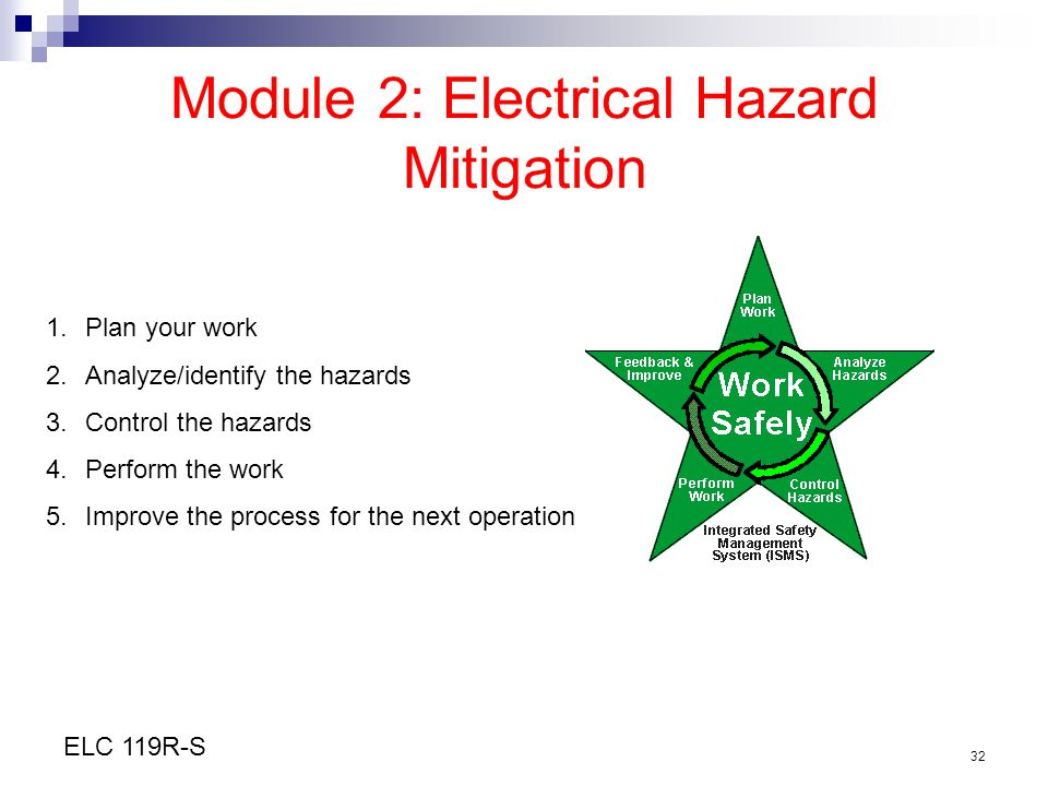 Module 2: Electrical Hazard Mitigation