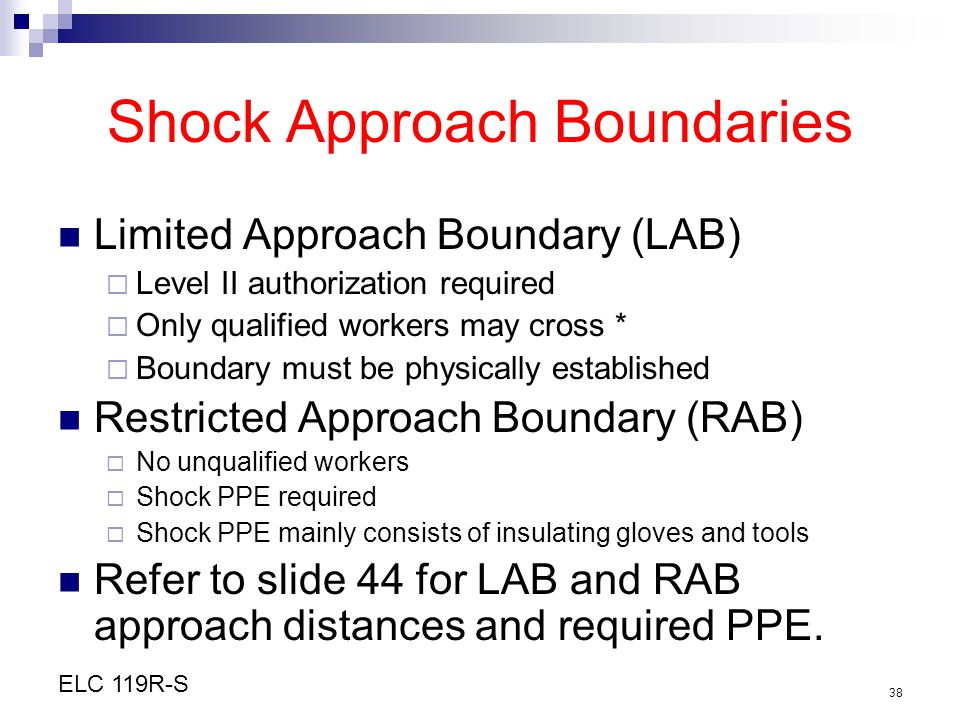 Shock Approach Boundaries