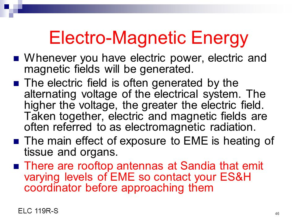 Electro-Magnetic Energy