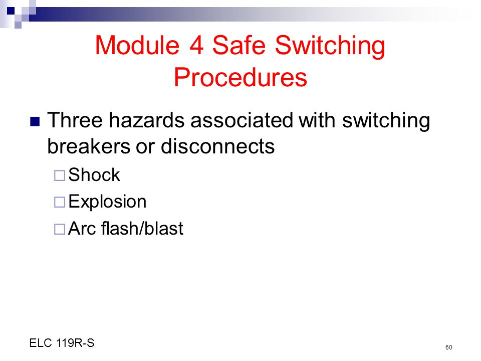 Module 4 Safe Switching Procedures