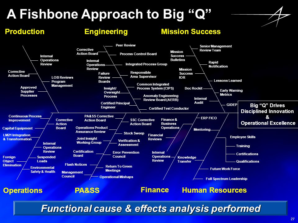 A Fishbone Approach to Big Q