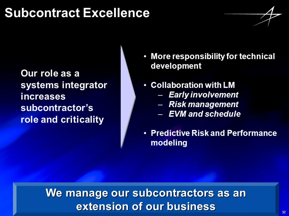 Subcontract Excellence