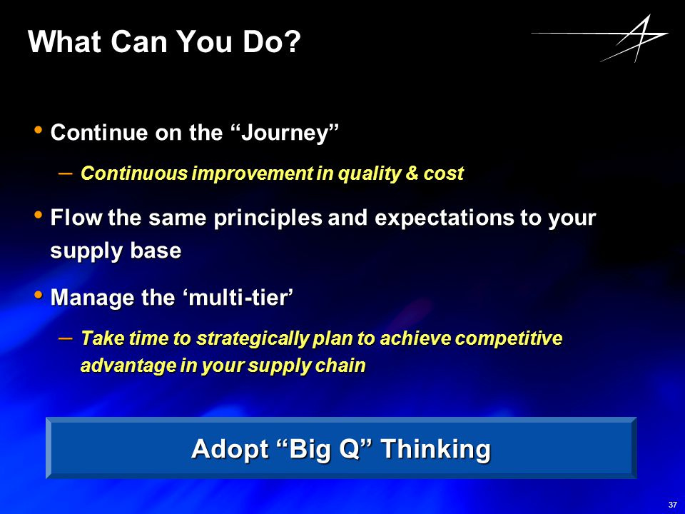 What Can You Do Adopt Big Q Thinking Continue on the Journey