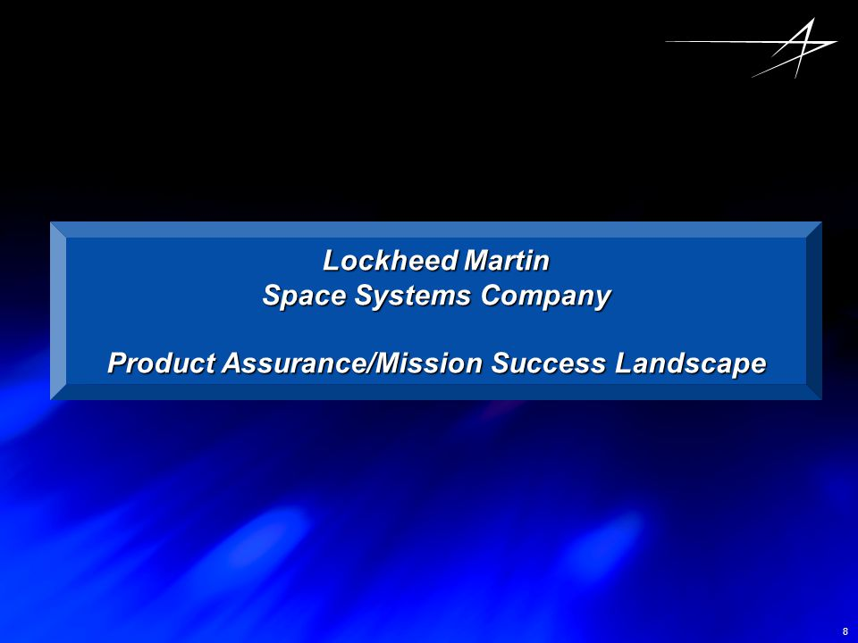 Product Assurance/Mission Success Landscape