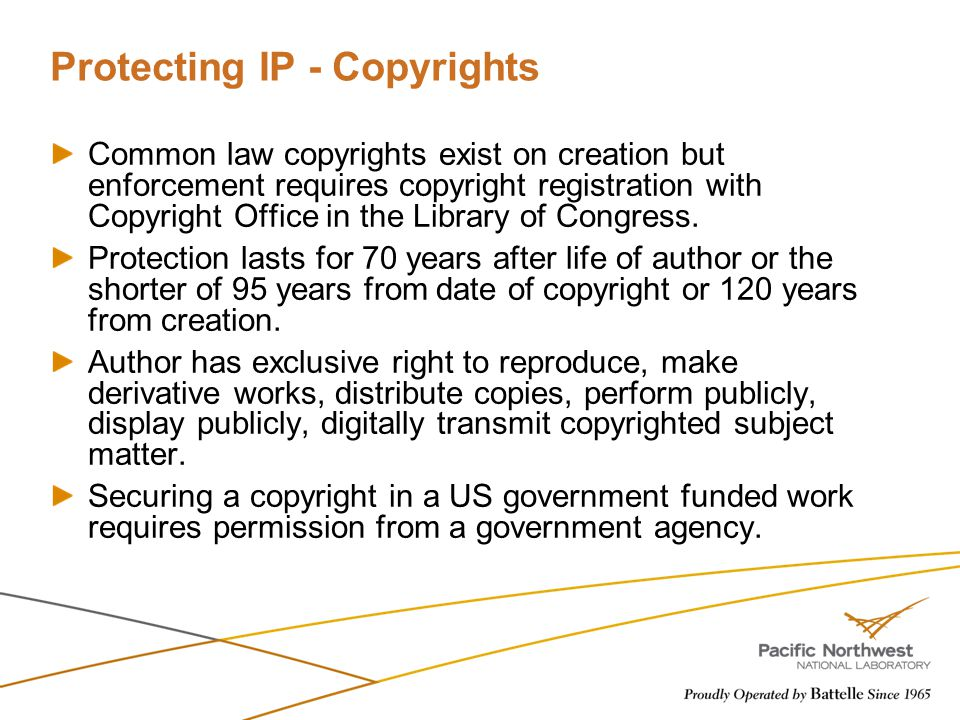 Protecting IP - Copyrights